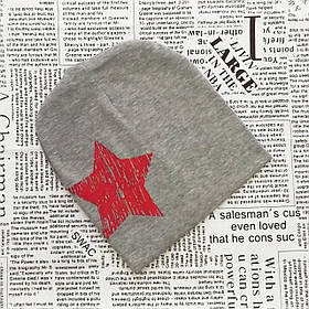 Шапка с звездой для мальчика