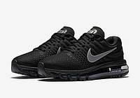 Кроссовки мужские Nike Air Max 2017 Black (найк аир макс) черные