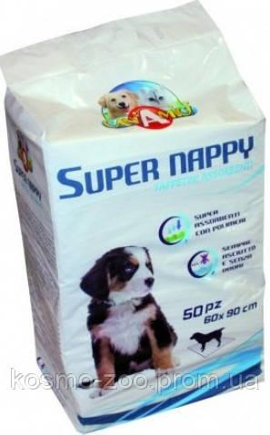 Пелёнки для туалета собак CaniAMici Super Nappy 50шт (90*60см)