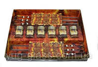 """Набор для шашлыка GE01-837Ш (6 стопок 50 мл+6 шампуров) рисунок """"Греческий узор""""."""