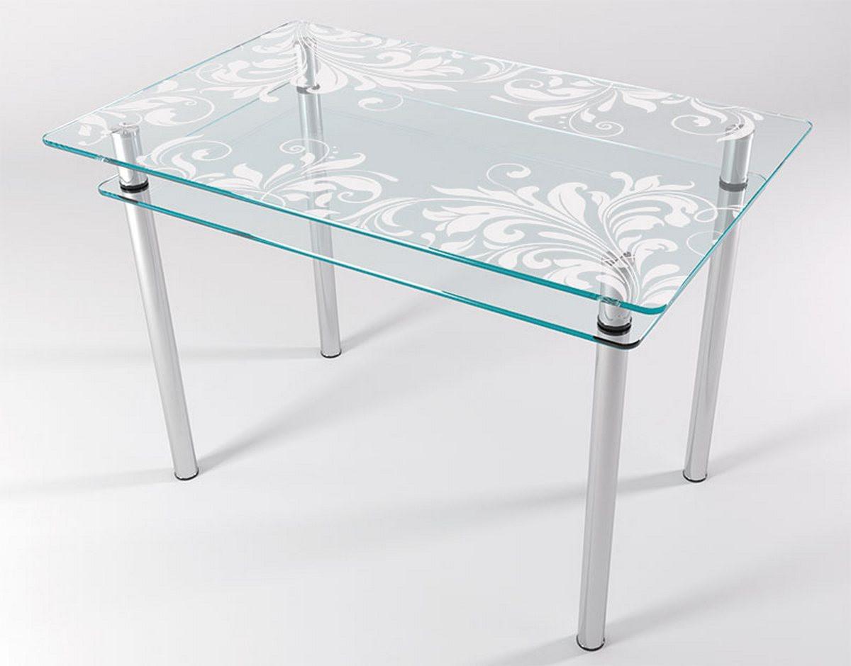 Стол стеклянный кухонный КТ 01