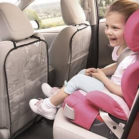 Захисний чохол на спинку переднього сидіння автомобіля