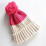Детская вязанная демисезонная шапка, фото 2