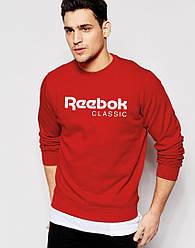 Спортивная кофта Reebok, Рибок, свитшот, трикотаж, мужской, красного цвета, копия