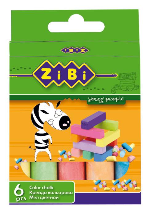 Мел цветной ZiBi 6 цветов картон ZB.6701-99