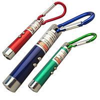 Брелок фонарик-лазер с карабином 3 в1 12шт
