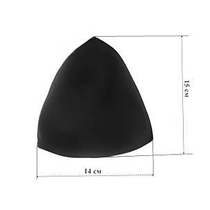 Чашка №3 треугольная размерная, черная, фото 2