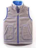 Флисовая жилетка для детей ростом от 110 до 150 см