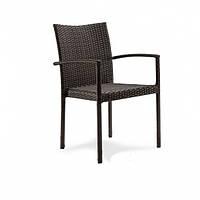 Плетеное кресло из ротанга искусственного под натуральный коричневое Акра (Акра) 56x55x85 см