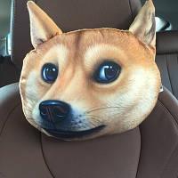 Подушка 3D на подголовник Собака