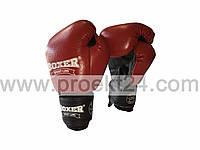 Боксерские перчатки 6оz комбинированные, красные