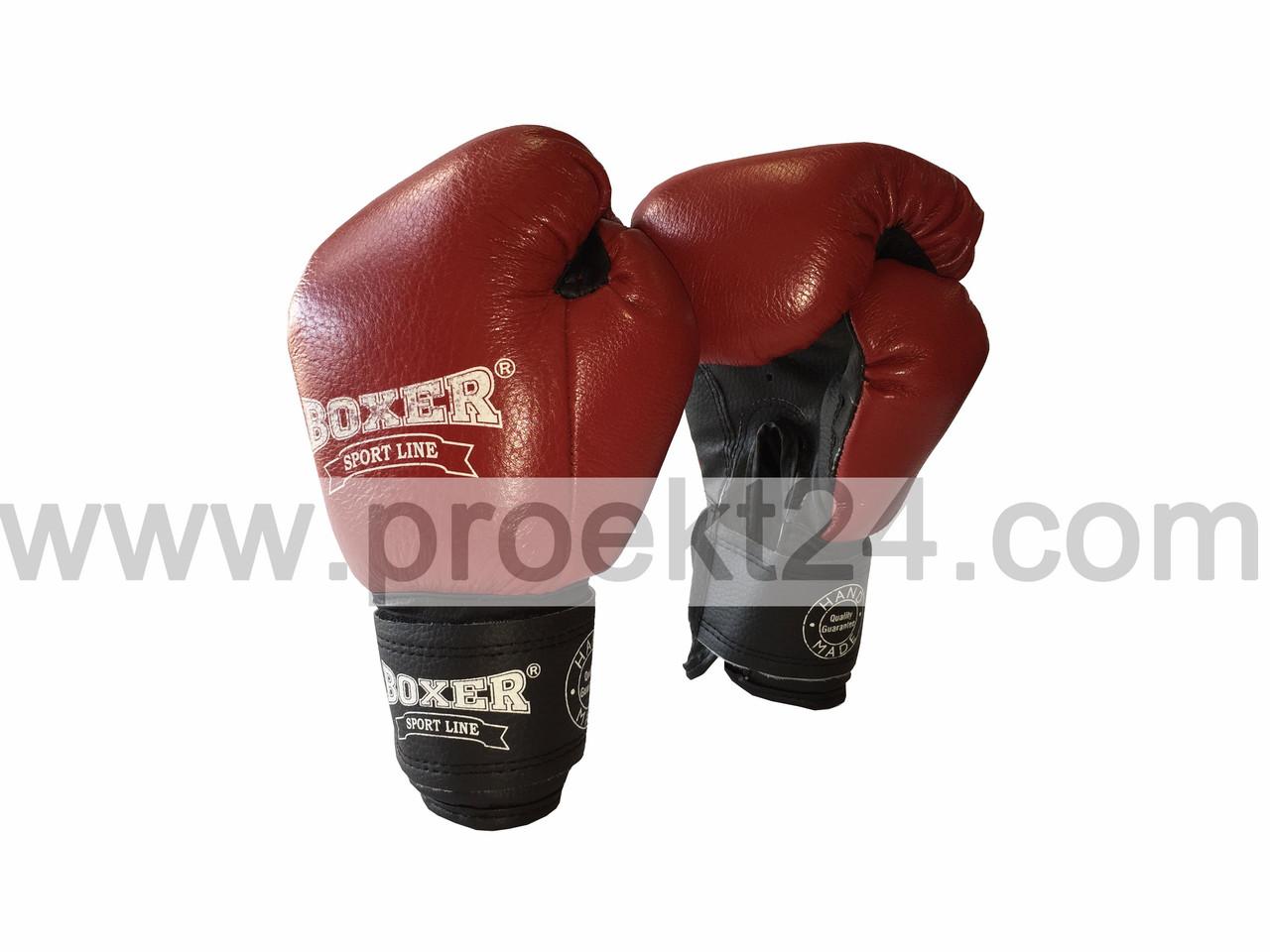 Боксерские перчатки 6оz комбинированные, красные - Глобальные энергосберегающие технологии  в Днепре