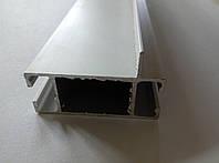 Профиль алюминиевый 2576 серебро соединяющей для витрин, фото 1