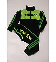 Детский Спортивный Костюм Adidas Школьник без капюшона  Рост 110-140 см Цвет Салатовый