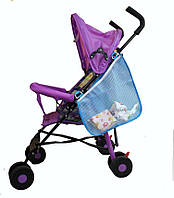 Сетка - сумка для коляски Голубая, Розовая