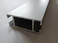 Алюминиевый профиль 2721 серебро соединяющий для витрин