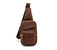 Рюкзак на одно плечо Augur | коричневый, фото 1