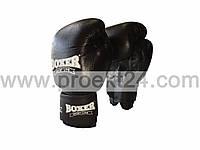Боксерские перчатки 6оz комбинированные, черные