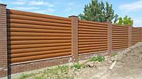 Забор из металлического блок хауса. Металлический блок хаус для забора, фото 1
