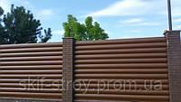 Забор из металлического блок хауса. Металлический блок хаус для забора, фото 4