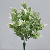Ветка рускус бело-зеленая   30см зелень искусственная