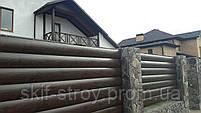 Забор из металлического блок хауса. Металлический блок хаус для забора, фото 5