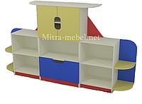 Cтенка для игрушек в детский сад (2600*420*1200h)