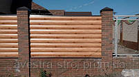 Забор из металлического блок хауса. Металлический блок хаус для забора, фото 7