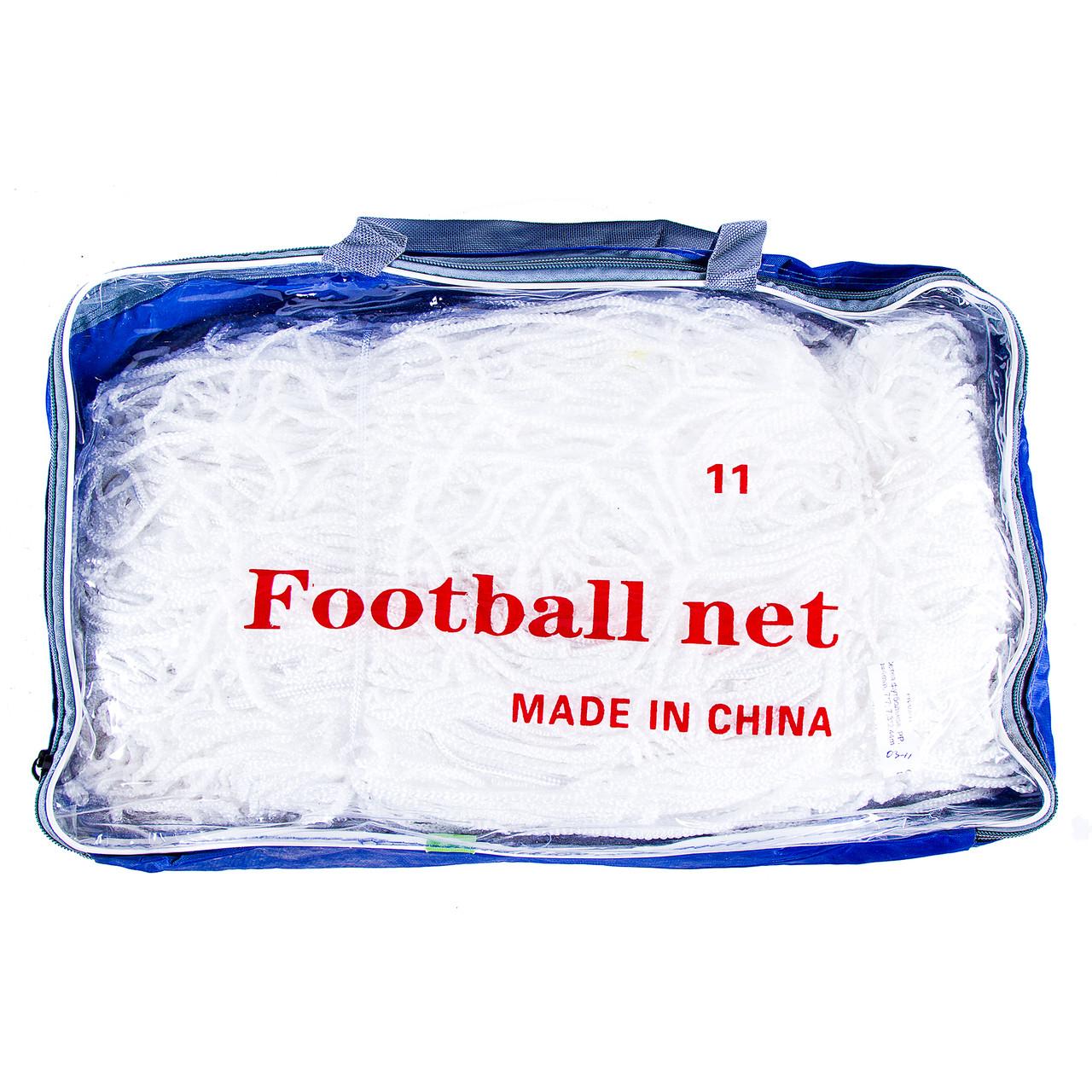 Сітка футбольна безузловая D=4mm, осередок: 7*7; рр: 7,3*2,44 m FN-03-11