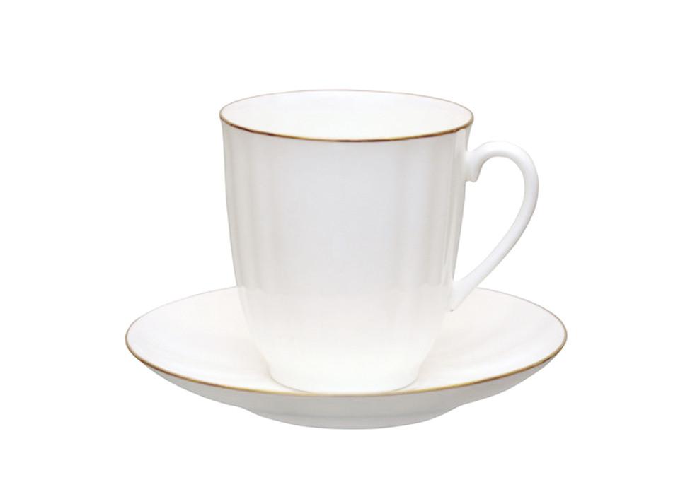 Чашка чайная с блюдцем И.Ф.З. Ветерок Золотой кантик 176 мл 13630