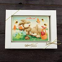 """Шоколадная открытка """"С Пасхой"""" 95х140мм, вес 170гр"""