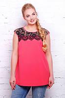 Стильная розовая женская блуза Лола ТМ Таtiana 56-62  размеры