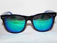 Очки Ray Ban Wayfarer 2140 черный сине-зеленый зеркальные реплика e592709702e