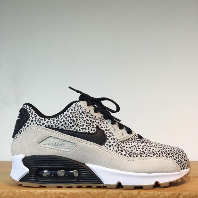 Кроссовки женские Nike Air Max 90 Safari Premium Jungle Frog (в стиле найк аир макс)