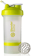Шейкер BlenderBottle ProStak 16 oz/450 ml 3, 450 мл, прозорий з салатовою кришкою/transparent with bright green cap