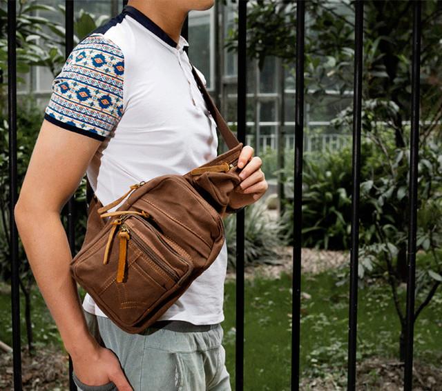 Рюкзак на одно плечо Augur   коричневый