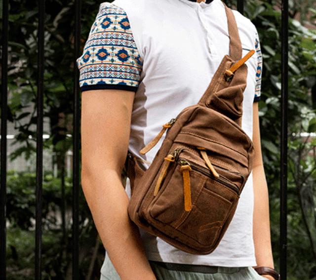Рюкзак на одно плечо Augur | коричневый