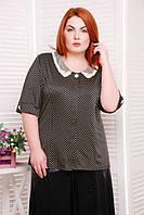 Классическая блуза в горошек Бэрри ТМ Таtiana 56-60  размеры