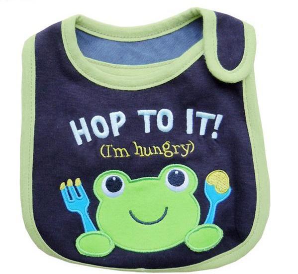 Нагрудник хлопковый Hop to it, темно-синий