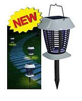 Лампа ловушка для насекомых на солнечной батарее  VL-8102 - уничтожитель насекомых, фото 1