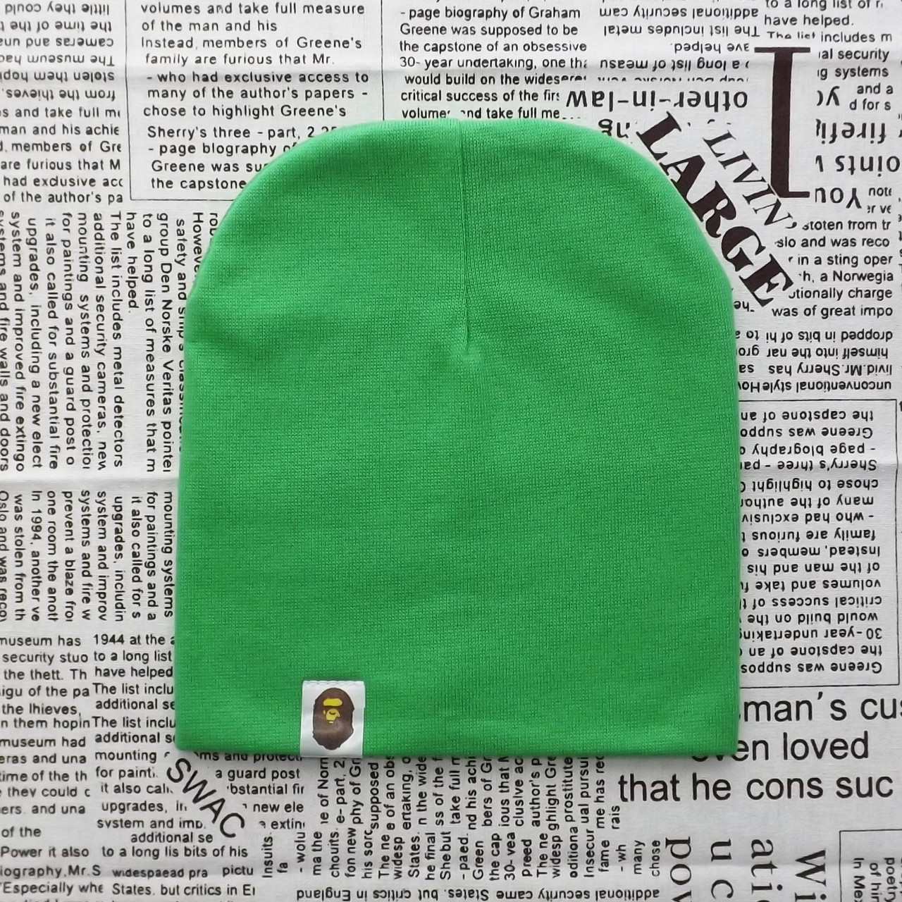 Демисезонная трикотажная шапка Варе зеленый