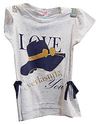 Туника детская на девочку шляпа love (лето)