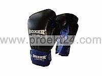 Перчатки бокс. 10 оz комбинированные, черные