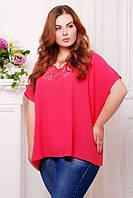 Женская ярко-розовая блуза Миранда ТМ Таtiana 54-60  размеры