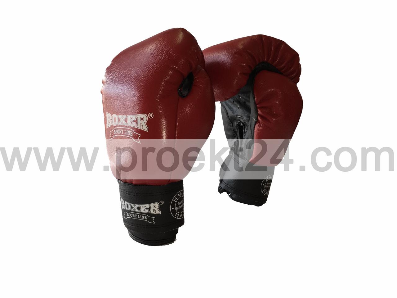Рукавички бокс. 12 оz комбіновані, червоні