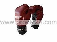 Перчатки бокс. 12 оz комбинированные, красные