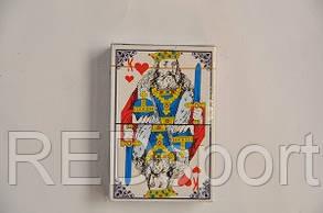 Карты игральные 1 колода  (54 листа, картон, пластик, толщ.-0,3мм)