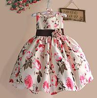 Плаття нарядне на короткий рукав для дівчаток
