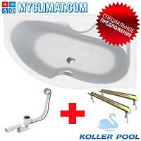 Ванна акриловая Koller Pool Montana 150х105 левая с ножками+сифон