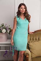 Женское летнее платье в классическом стиле со шлейфом размер 42-44